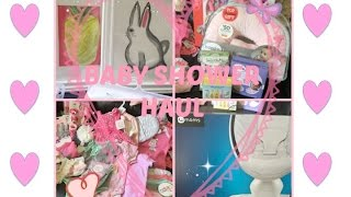 GIRL BABY SHOWER HAUL!!!