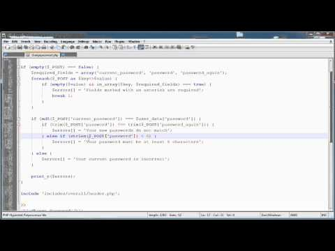 PHP Tutorials: Register & Login (Part 13): Changing Password (Part 2)