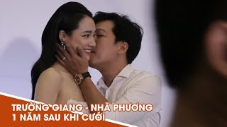 Trường Giang tình tứ hôn Nhã Phương khi xuất hiện sau gần 1 năm kết hôn