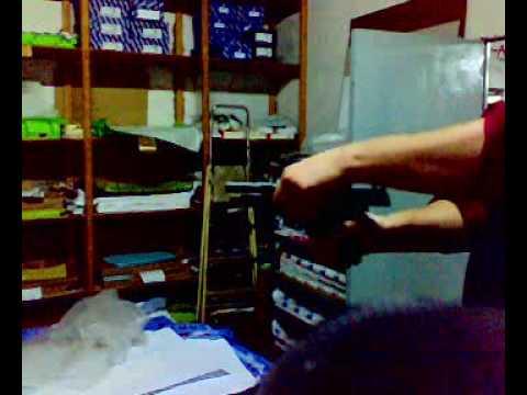 probando la beretta 92F (Blow) 9 mm. P.A