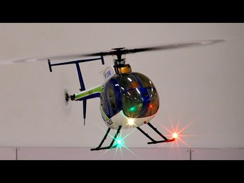 RC Helicopter Hughes 500e 500er Size Indoor Flight *1080p50fpsHD*