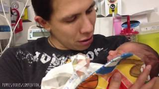 **VERY EMOTIONAL** Father Holds His Baby For The First Time