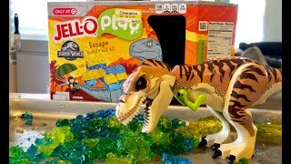 Jurassic World Jello Play Toy - GROSS Jelly Challenge - How to Make Slime Color Experiments for Kids