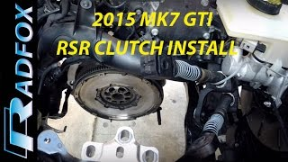 2015 MK7 GTI APR Stage 2 RSR Clutch Install 2