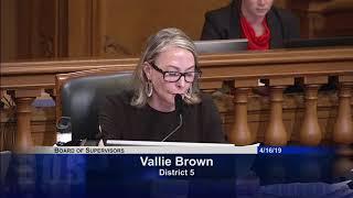 Supervisor Vallie Brown calls for the DA to investigate Jessica Alva case
