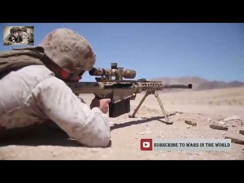 Marine Scout Snipers Shooting With Ultra Precise Sniper Rifles M107 Barrett  50 Cal & M40A5 Firing