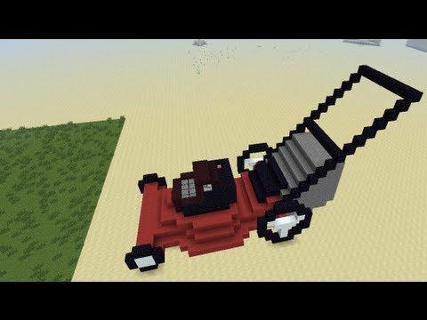 Redstone Lawn Mower In Minecraft Youtube