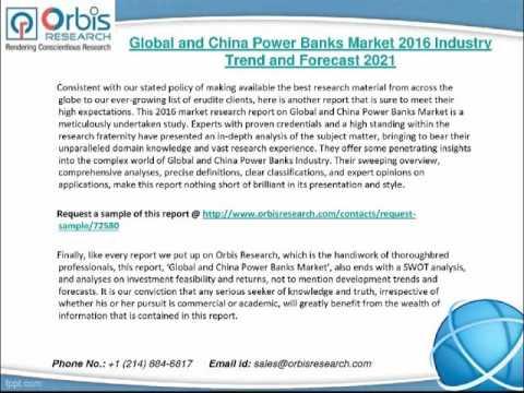 2016 Global and China Power Banks Market