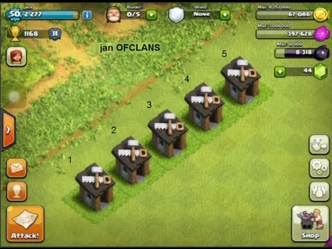 Clash of Clans - 5 Builders Huts