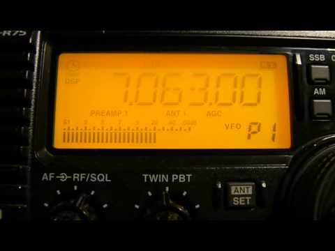 7063khz,Ham Radio TI4CF(SAN JOSE,Costa Rica) 02-38UTC.
