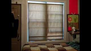 Homemade double hung roman blinds