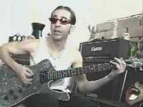Daron Malakian plays on his Ibanez Ice Man.