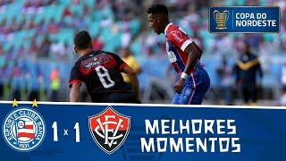 Bahia 1 x 1 Vitória   Gols e melhores momentos   3ª rodada   Copa do Nordeste 2019