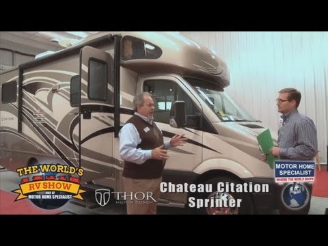 Motor Home Specialist Review of Thor Chateau Sprinter Diesel RV at The World's RV Show