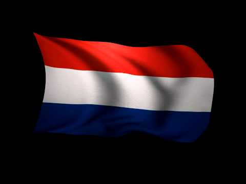 3D Rendering of the flag of the Netherlands waving in the wind.