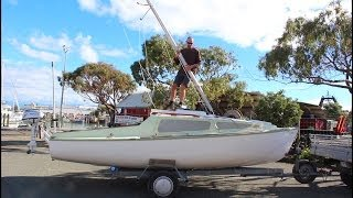 Rigging, Launching & Sailing a 21 foot trailer Yacht single handed - Nelson NZ