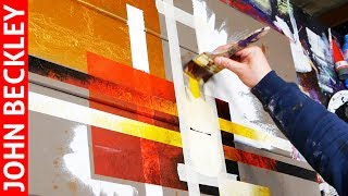 Abstract Art Painting  with Masking Tape | Tago
