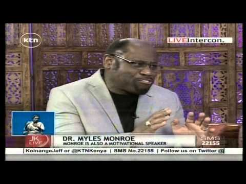 Jeff Koinange Live with Dr. Myles Monroe, American Televangelist ( Part 1 )