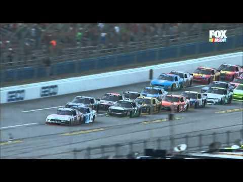 2016 NASCAR Xfinity Series Sparks Energy 300 at Talladega Wild Race Finish