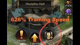 Clash Of Kings : 626% Training Speed - Training Supreme & Elite Troops faster