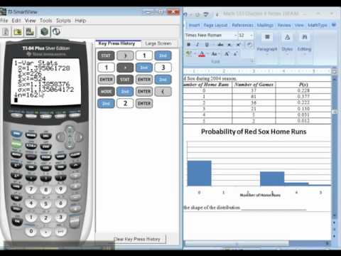 Ch 6 - Part 2 of 6 - Math 133 TI-83/84