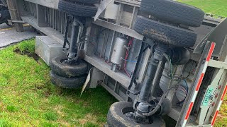SEMI TRUCK TRAILER FLIPPED OVER | NEW DRIVER ROOKIE MISTAKES | MAVERICK TRANSPORTATION SAFETY FIRST