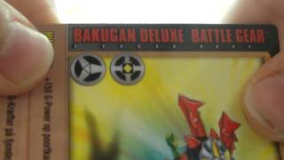 BAKUGAN DELUXE BATTLE GEAR AND BAKU 2 BAKUGAN