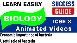 ICSE IX BIOLOGY Economic importance of bacteria, Useful role of bacteria by Success Guide