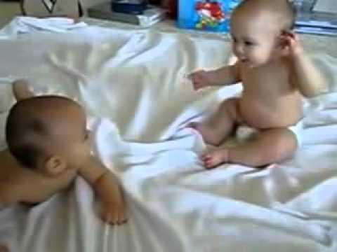 Video Percakapan Bayi Kembar Lucu Banget video