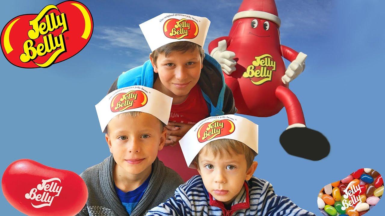 Идем на экскурсионный тур по конфетной фабрике jelly belly
