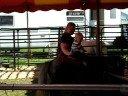 Guilford Fair - Noah and Mom ride a pony