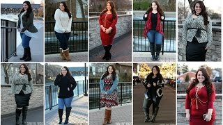 Wide Calf Boots Lookbook [8 Full Outfits] | Plus Size Fashion