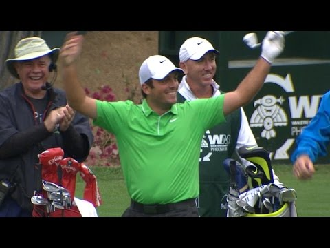 In the third round of the 2015 Waste Management Phoenix Open, Francesco Molinari cards an ace on the par-3 16th hole. Subscribe to the channel http://pgat.us/subPGAT Check out more TOUR videos ...