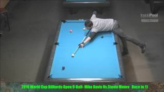 Mike Davis VS  Stevie Moore - 2016 World Cup Billiards 9 Ball Open Finals