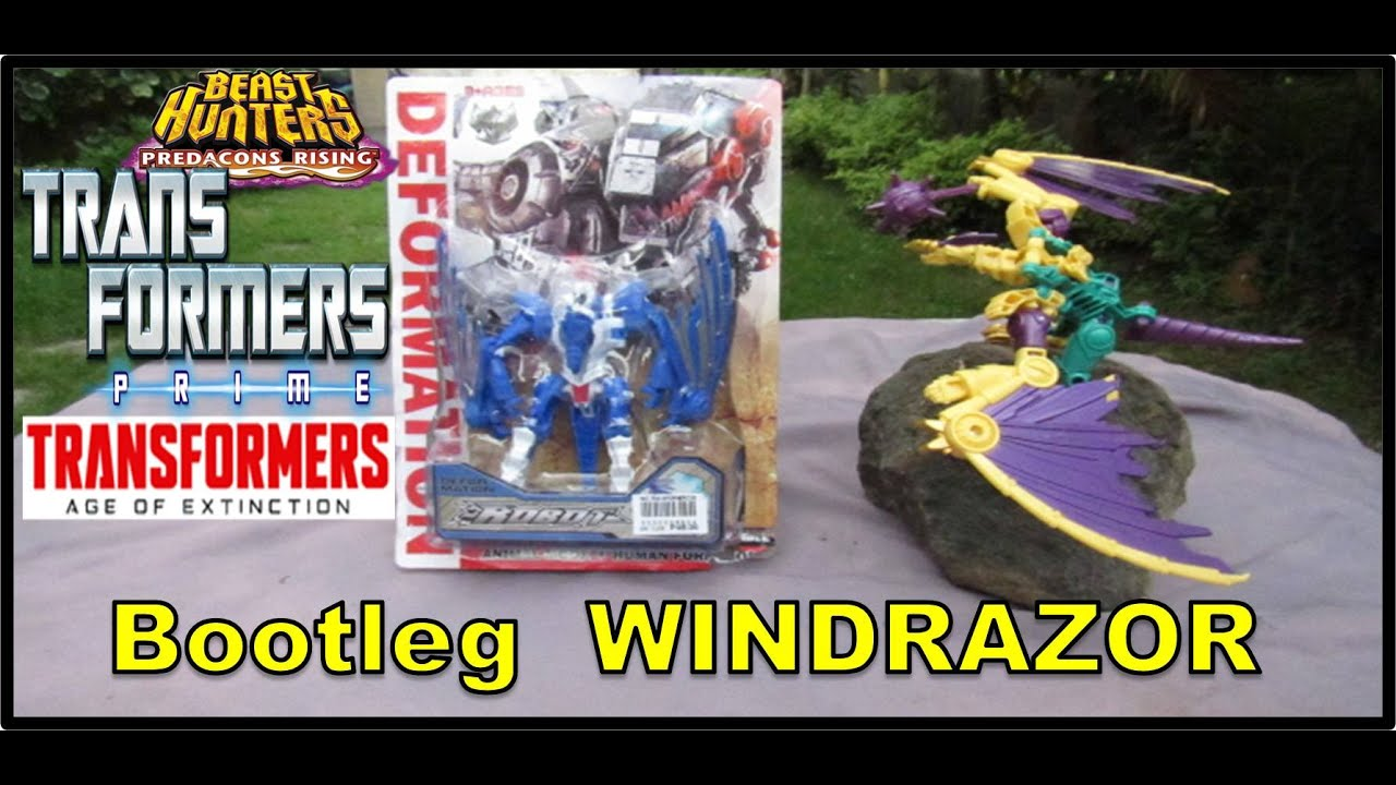 TRANSFORMERS PRIME - WINDRAZOR  Bootleg Toy | TRANSFORMERS PRIME - BEAST HUNTERS Deluxe Class