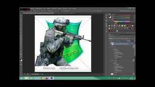 Как наложить текстуру на текст в photoshop