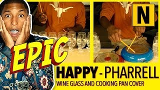"Pharrell Video - Pharrell Williams - ""HAPPY"" on Wine Glasses, Pots and Pans"