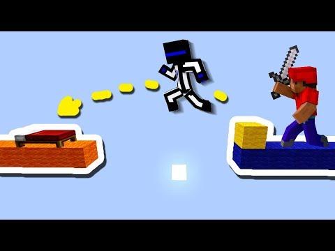 КАК ПЕРЕПРЫГНУТЬ БОЛЬШОЕ РАССТОЯНИЕ НА БЕД ВАРСЕ? - (Minecraft Bed Wars)