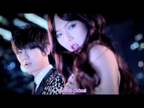 Hyuna & Jang Hyun Seung - Trouble Maker MV [english sub + romanization + hangul][HD][1080p] Music Videos