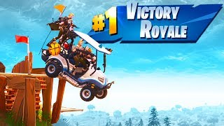 Highest Golf Cart Ramp EVER! - Fortnite Season 5 Gameplay