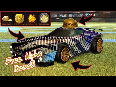 How To Get *FREE* Alpha Items And Black Market Decals?! | Rocket League |