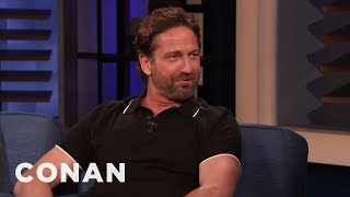 Gerard Butler Flashed An Entire Congregation In His Kilt - CONAN on TBS
