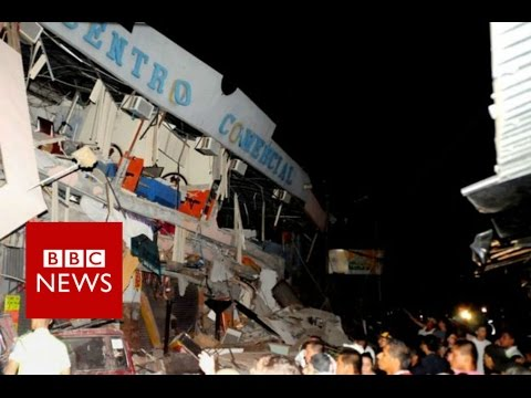 Ecuador earthquake of 7.8 magnitude kills dozens - BBC News