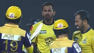 Fight  between Wahab Riaz Ahmed Shehzad at PSL T20 match