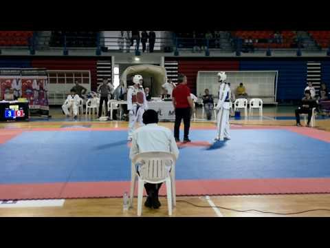 Went first at taekwondo.