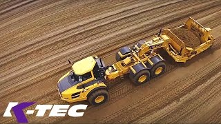 K Tec Self Loading Sand Volvo Floater Tires Demo