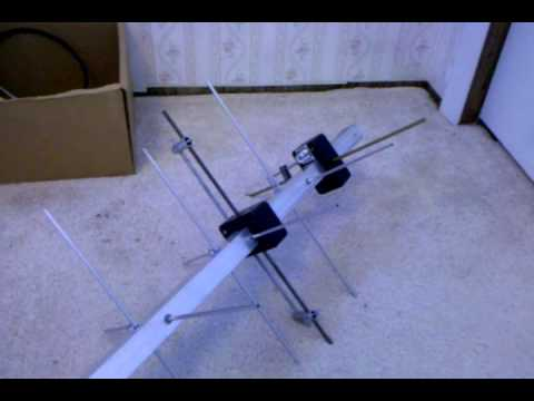 UHF circular polarized yagi for amateur satellites