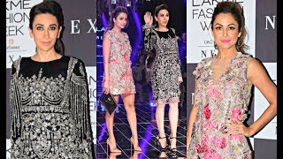 Kareena Kapoor Sister Karishma Kapoor And BFF Amrita Arora At Lakme Fashion Week 2017 Finale