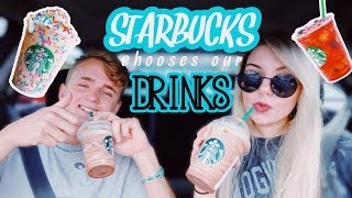Letting Starbucks Baristas Choose My Drinks For A Week! + Friends!
