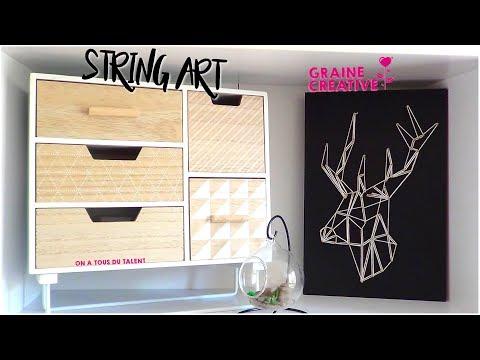 DIY   STRING ART CERF   GRAINE CRÉATIVE